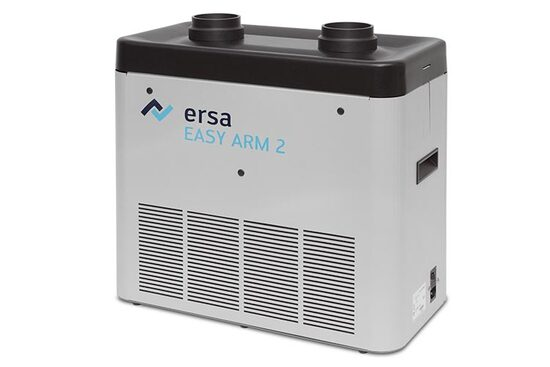 Die Ersa EASY ARM Lötrauchabsaugungen verfügen über einen dreistufigen Filter zur Reinigung der Prozessluft und schützen so vor lungengängigen Partikeln (< 1 Mikrometer) aus dem Lötrauch.
